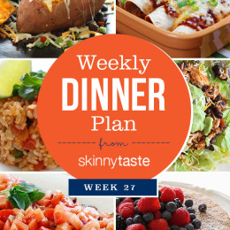 A healthy week of dinners planned out to make life easy!
