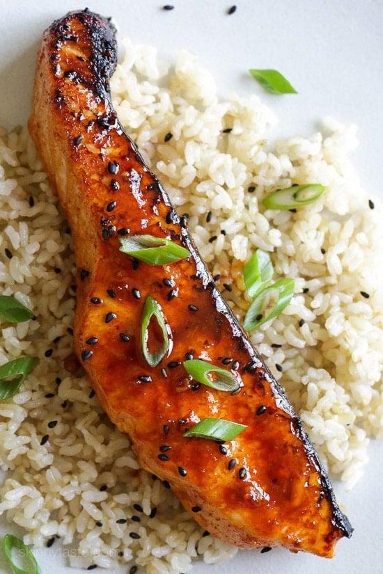 Gochujang Glazed Salmon Skinnytaste