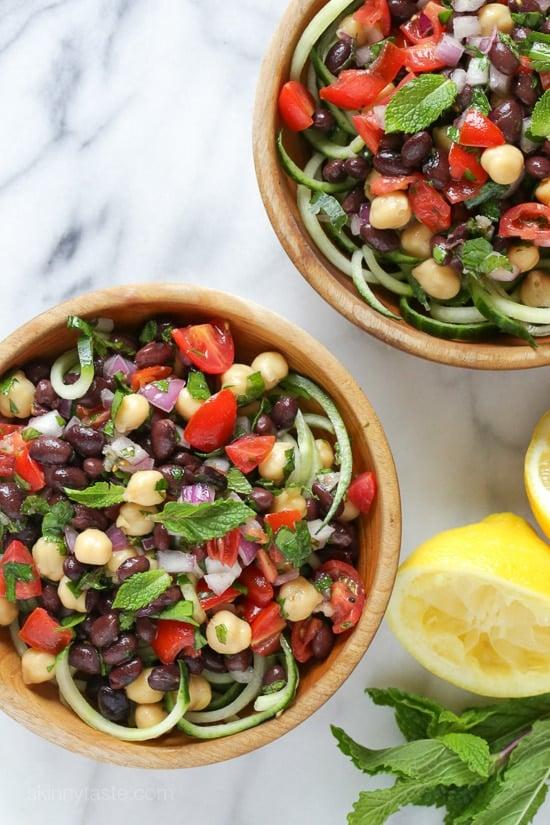 Mediterranean Bean Salad-6