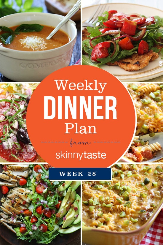 A healthy week of Skinnytaste Dinners.