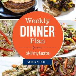 Skinnytaste Dinner Plan Week 30. Healthy dinners for the week!