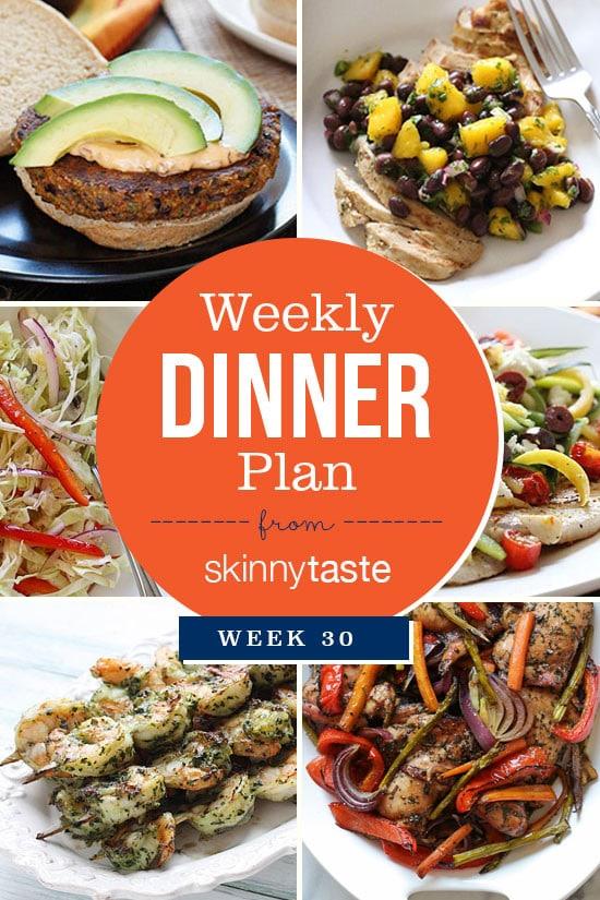Skinnytaste Dinner Plan Week 30 Skinnytaste