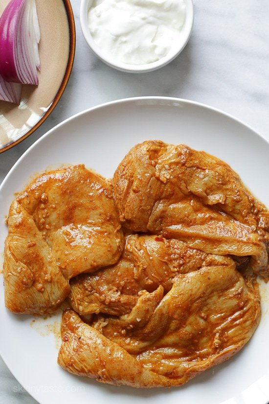 Shawarma Spiced Grilled Chicken with Garlic Yogurt Sauce-2