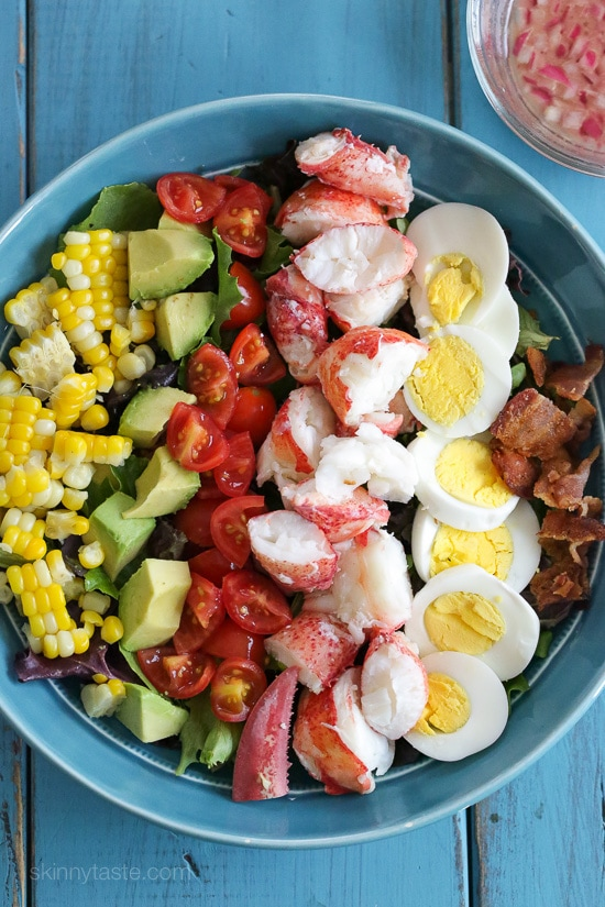 Lobster Cobb Salad – a classic Cobb salad with a light summer twist.