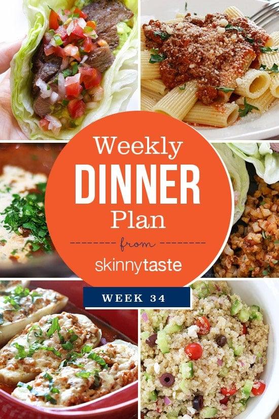 Skinnytaste Dinner Plan Week 34