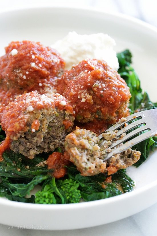 Slow Cooker Broccoli Rabe Meatballs