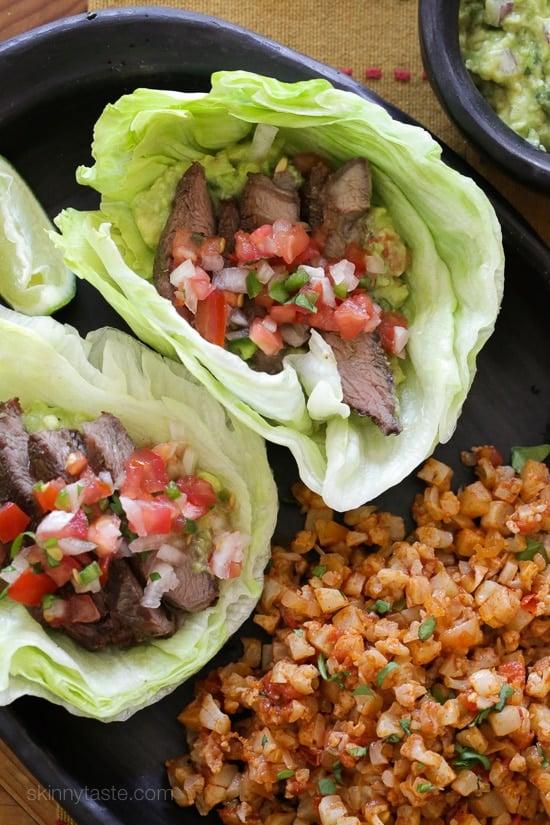 Steak Taco Lettuce Wraps