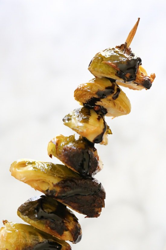 When you think of grilled vegetables, corn, eggplant, peppers and zucchini usually come to mind. But did you know you can make Brussels sprouts on the grill too? They come out perfectly charred on the edges and make the perfect side to grilled steaks, pork or chicken.