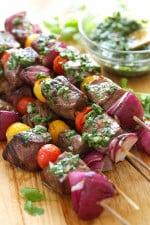 My favorite way to eat steak is topped with this AWESOME chimichurri sauce! It adds flavor and zing to anything you're grilling!