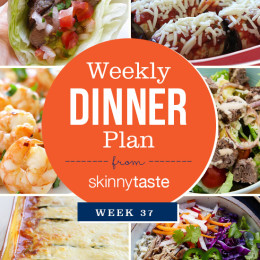 Skinnytaste Dinner Plan (Week 37)