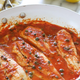 If you're lucky enough to get your hands on some fresh white fish such as Fluke, Flounder, Halibut, etc., this easy skillet recipe is a must. Takes less than 10 minutes to make and tastes so good!