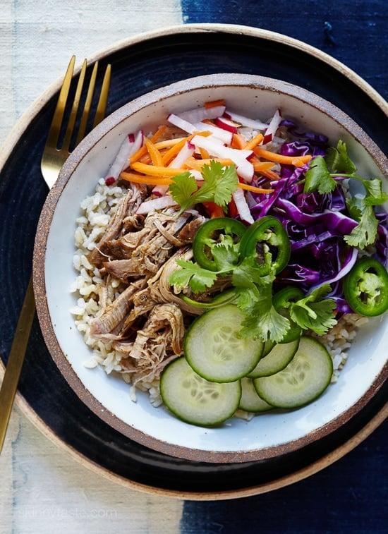 Slow-Cooker Banh Mi Rice Bowls - Skinnytaste