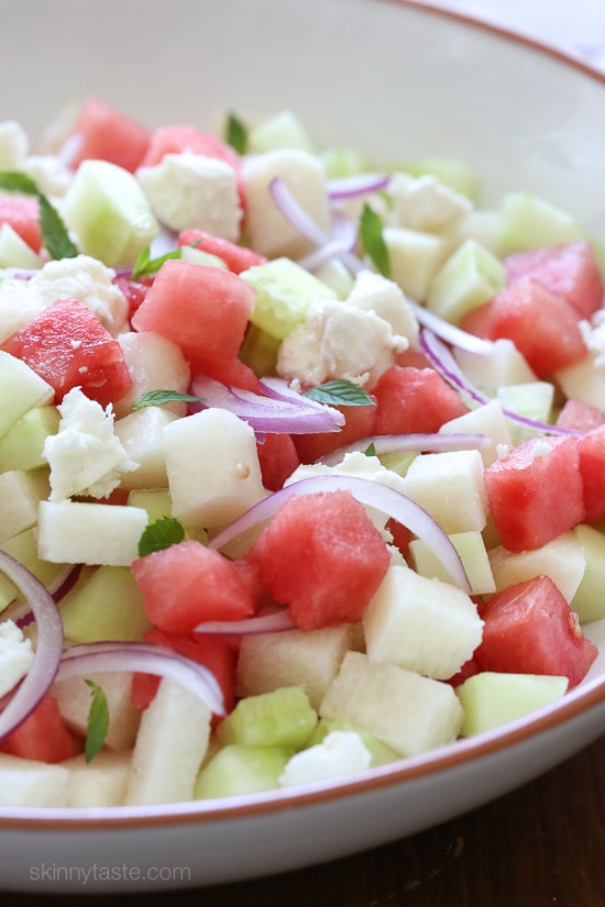 This Watermelon, Jicama and Cucumber Salad is light and refreshing for ...