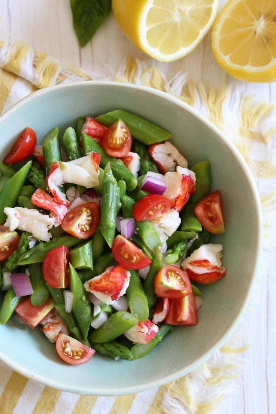 Lobster Asparagus Chopped Salad - Skinnytaste