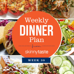 Skinnytaste Dinner Plan (Week 39)