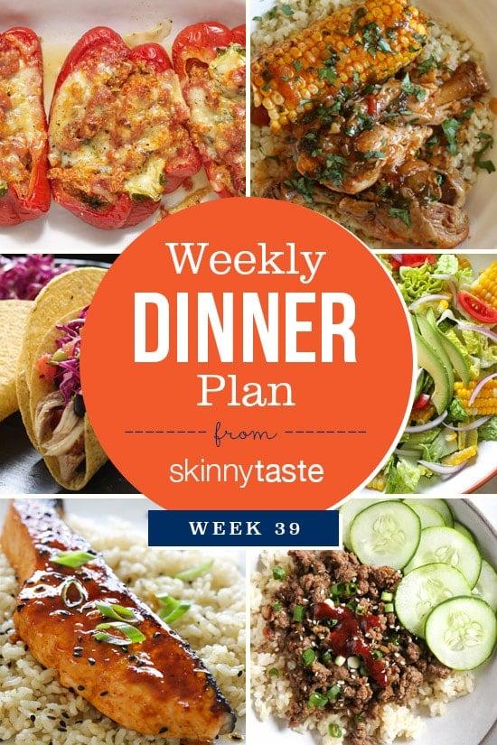 Skinnytaste Dinner Plan (Week 39)