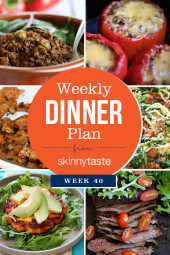Skinnytaste Dinner Plan (Week 40)