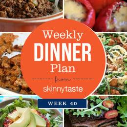 Skinnytaste Dinner Plan (Week 40)
