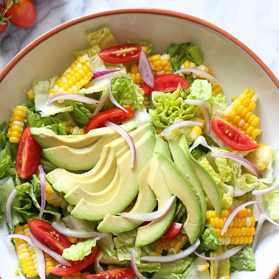 Corn, Tomato and Avocado Salad with Creamy Buttermilk-Dijon Dressing ...
