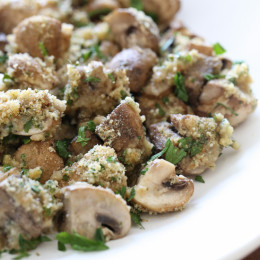 All the deliciousness of stuffed mushrooms without all the work! An easy side dish you can serve any night of the week!