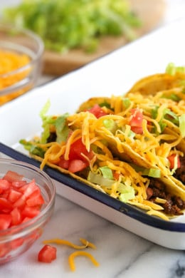 Taco night happens once a week in my house, these are the BEST ground beef tacos made from scratch! This taco recipe is also great with ground turkey!