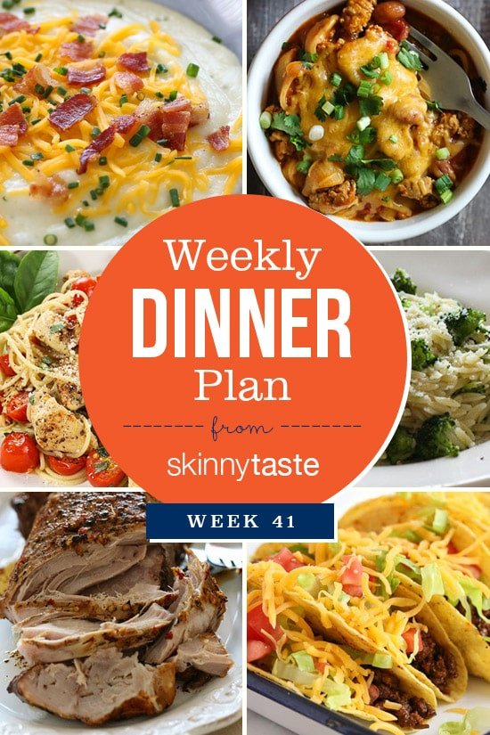 Skinnytaste Dinner Plan (Week 41)