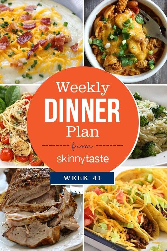 Skinnytaste Dinner Plan (Week 41)