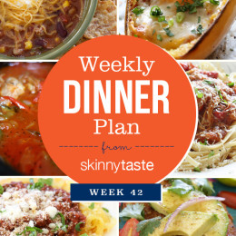 Skinnytaste Dinner Plan (Week 42)