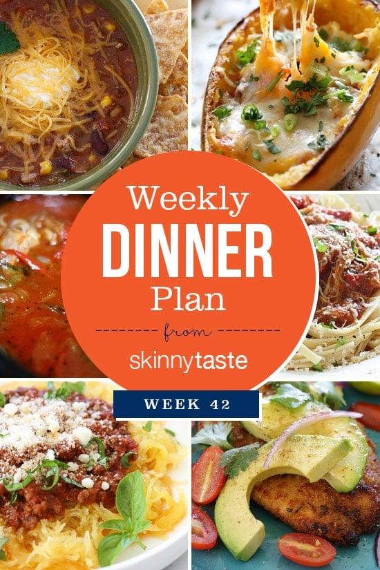 Skinnytaste Dinner Plan (Week 42)