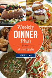 Skinnytaste Dinner Plan (Week 43)