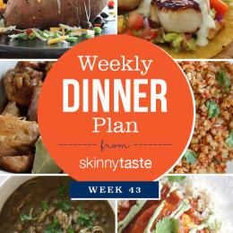 Skinnytaste Dinner Plan (Week 43)
