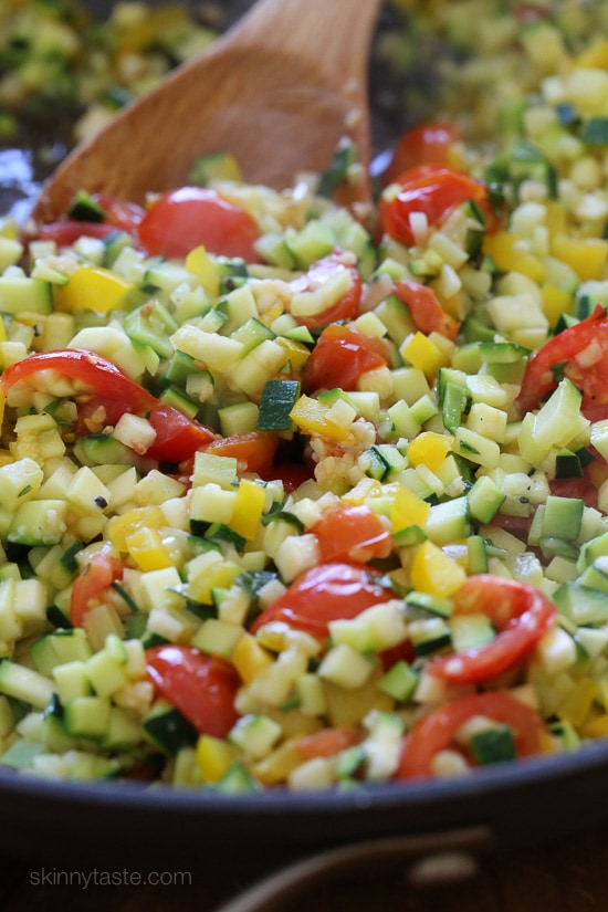 """Veggie Pearl """"Couscous"""" (a quick easy low-carb side dish)"""