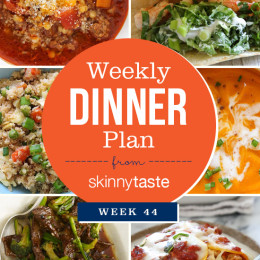 Skinnytaste Dinner Plan (Week 44)