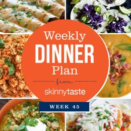 Skinnytaste Dinner Plan (Week 45)