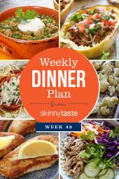 Skinnytaste Dinner Plan (Week 48)