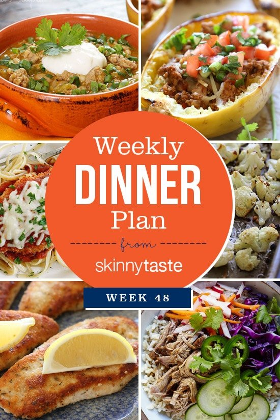 Skinnytaste Dinner Plan (Week 48)