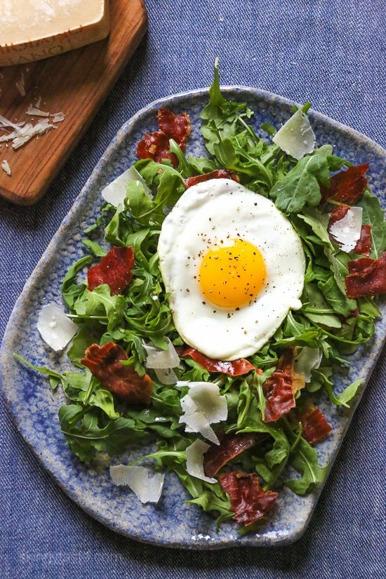 shaved Parmesan and a runny egg! When you pop that egg yolk, the salad ...