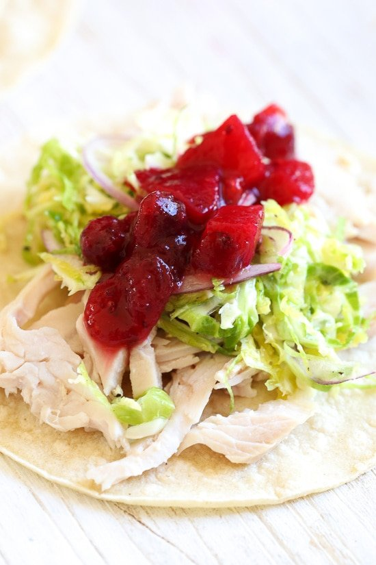 Leftover Thanksgiving turkey is transformed into quick and easy tacos! Just a few ingredients and less than 15 minutes, this is great for a quick lunch or dinner.