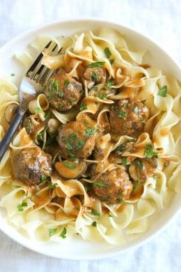 WW Turkey Meatballs Stroganoff