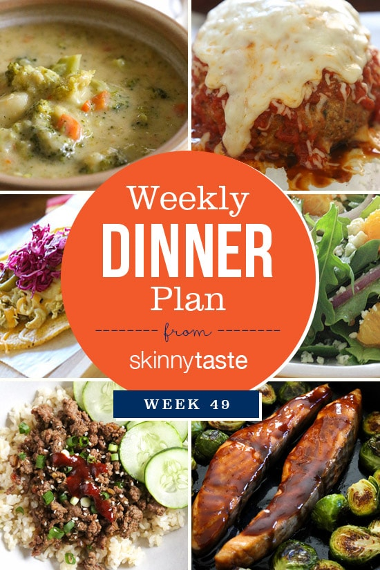 Skinnytaste Dinner Plan (Week 49)