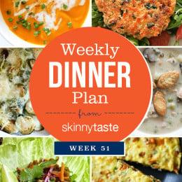 Skinnytaste Dinner Plan (Week 51)
