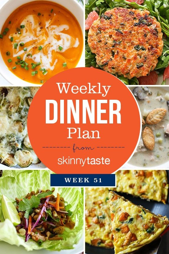 Skinnytaste Dinner Plan (Week 51)