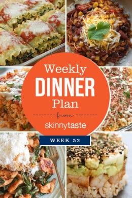 Skinnytaste Dinner Plan (Week 52)