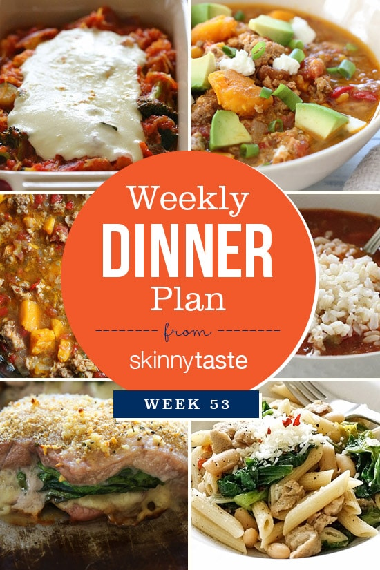 Skinnytaste Dinner Plan (Week 53)