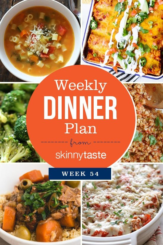 Skinnytaste Dinner Plan (Week 54)