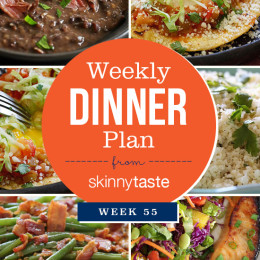 Skinnytaste Dinner Plan (Week 55)