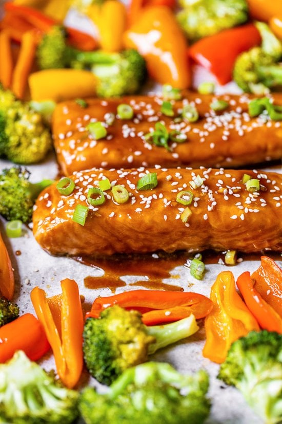 Sheet Pan Teriyaki Salmon and Vegetables