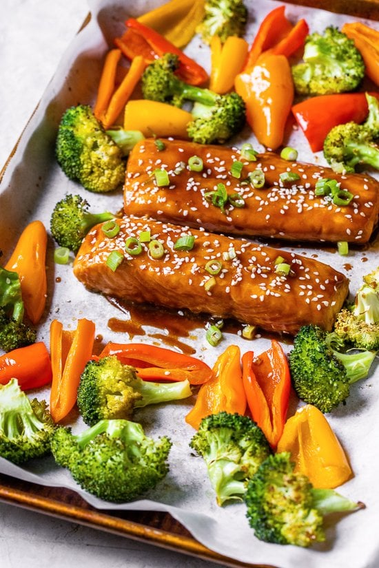 Sheet Pan Teriyaki Salmon And Vegetables Makanan Xyz