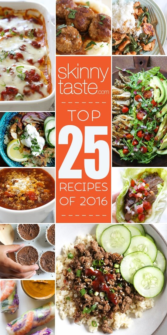 Top 25 Most Popular Skinnytaste Recipes 2016