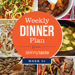 Skinnytaste Dinner Plan (Week 57)